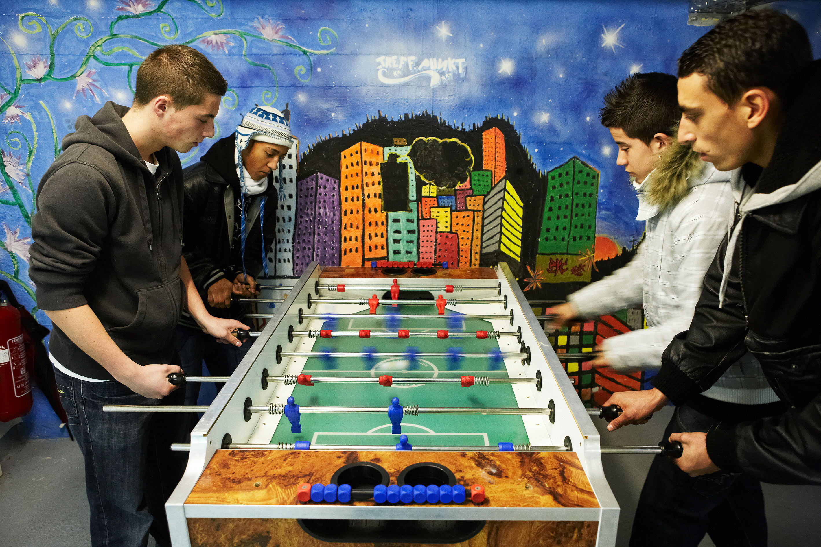 Tischfussball im Jugendtreff Bunker