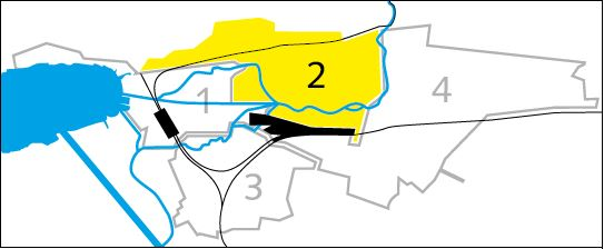 Bild der Einteilung der Stadt Biel in verschiedene Kreise für die Müllabfuhr - Kreis 2