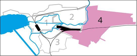 Bild der Einteilung der Stadt Biel in verschiedene Kreise für die Müllabfuhr - Kreis 4